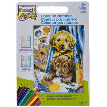 Puppies Color By Number Kit