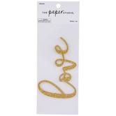 Gold Glitter Love Sticker