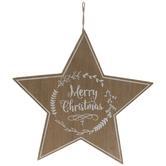 Merry Star Wood Wreath Embellishment