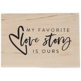 Favorite Love Story Rubber Stamp