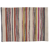 Multi-Color Hand Loom Striped Placemat