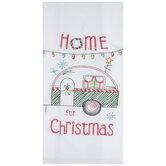 Home For Christmas Flour Sack Kitchen Towel