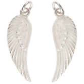 White Glitter Fairy Wing Charms