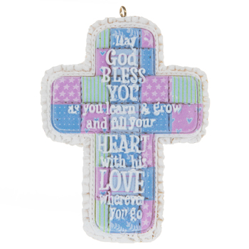 2020 Quilted Cross Ornament