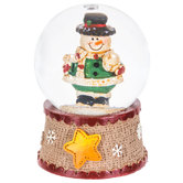 Snowman With Snowball Snow Globe