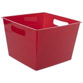 Red Square Container With Handles