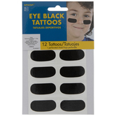 Eye Black Temporary Tattoos