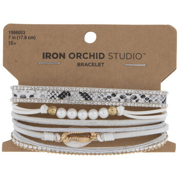 White Eclectic Magnetic Bracelet