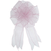 Pink Wired Edge Sheer Bow