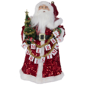 Sequins Santa Claus Tree Topper