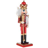 Mini Red Nutcracker King With Scepter