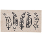Funky Feathers Rubber Stamp