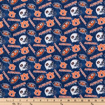 Auburn Allover Collegiate Cotton Fabric