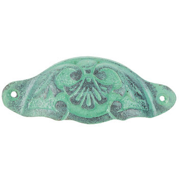 Antique Turquoise Metal Pull