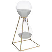 Gold Geometric Hourglass