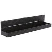 Black Sunken Wood Wall Shelf