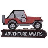 Adventure Jeep Wood Wall Decor