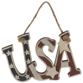 USA Rustic Ornament