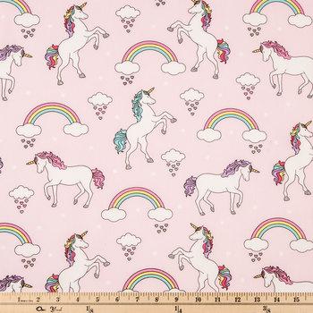Pink Unicorn Apparel Fabric