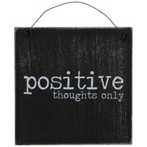 Positive Thoughts Only Wood Wall Decor