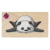 Splayed Panda Rubber Stamp