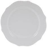 White Scalloped Hobnail Plate