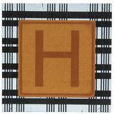 Plaid & Leather Letter Wood Wall Decor - H