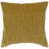 Mustard Velvet Piped Pillow Cover