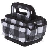 Black & White Buffalo Check Tiny Tote Bag
