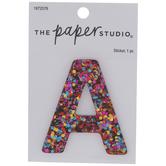 Bright Glitter Letter Sticker - A