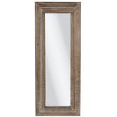 Brown Gray Wood Wall Mirror