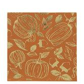 Orange & Gold Foil Pumpkin Napkins - Large