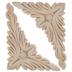 Acanthus Corner Wood Appliques