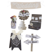 Rustic Wedding 3D Stickers