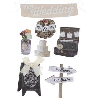 Rustic Wedding 3D Stickers