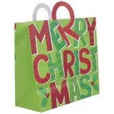 Red & Green Merry Christmas Gift Bag