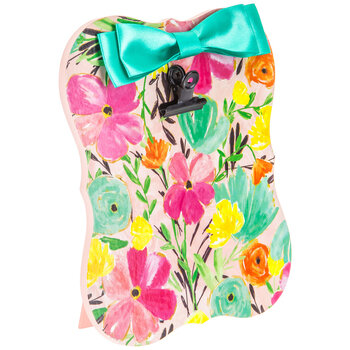 Watercolor Floral Clipboard With Bow