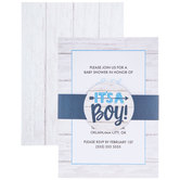 It's A Boy Baby Shower Invitations