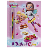 Coloring Book With Rainbow Pencil