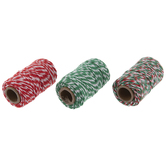 Red, Green & White Twine