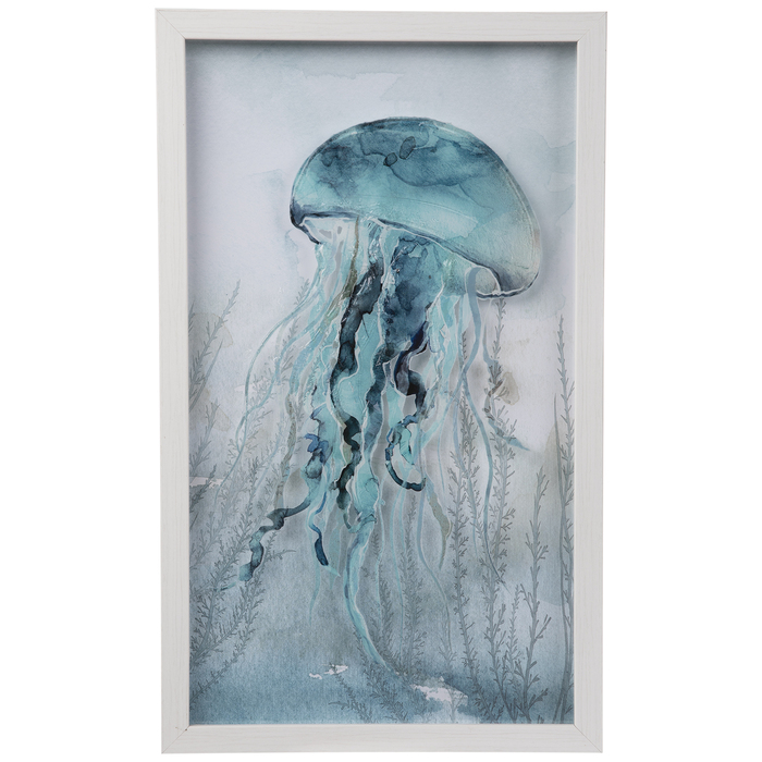 Blue Jellyfish Framed Wall Decor Hobby Lobby 1946748