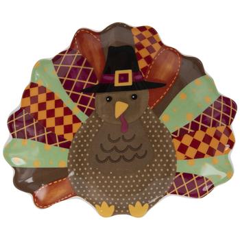 Turkey & Feathers Plate