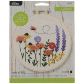 Butterfly & Flowers Embroidery Kit