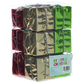 Wrapped Gift Box Ornaments