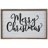 Merry Christmas Wood Wall Decor