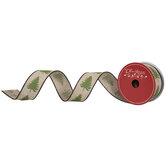 """Christmas Trees Wired Edge Ribbon - 1 1/2"""""""