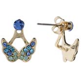 Butterfly Rhinestone Jacket Earrings
