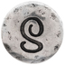Hammered Letter Mini Snap Charm - S