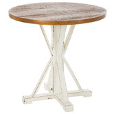 White & Brown Farmhouse Wood Table