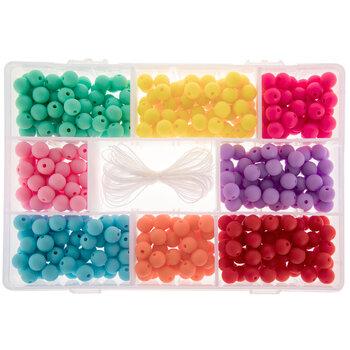 Round Rainbow Acrylic Beads